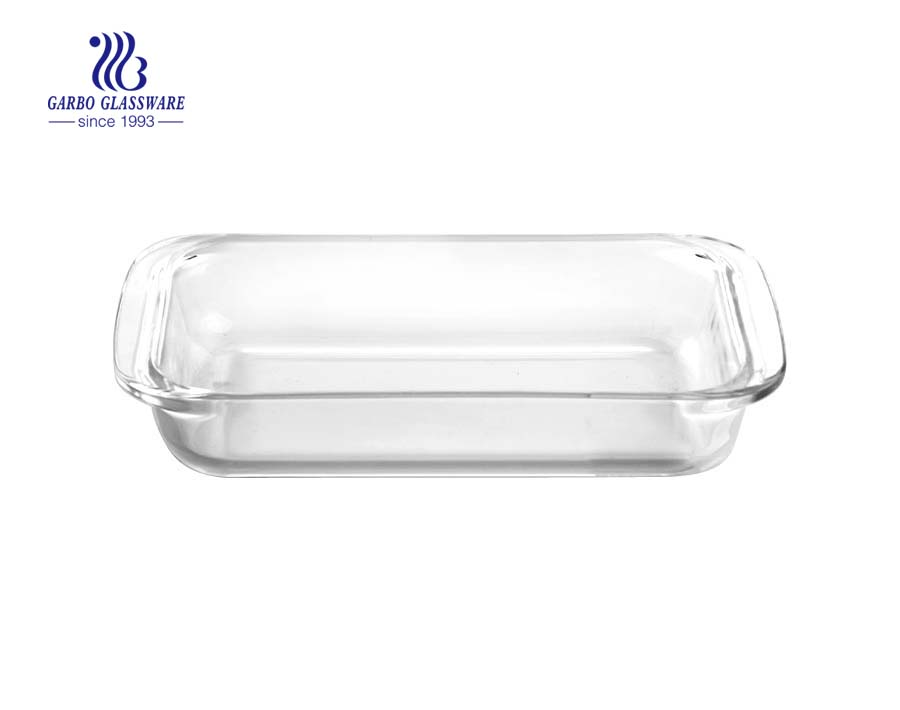 1.8L divider pyrex glass baking dish