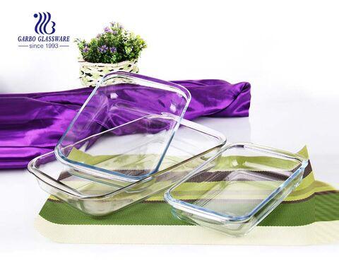 1.8L divider pyrex glass baking dish
