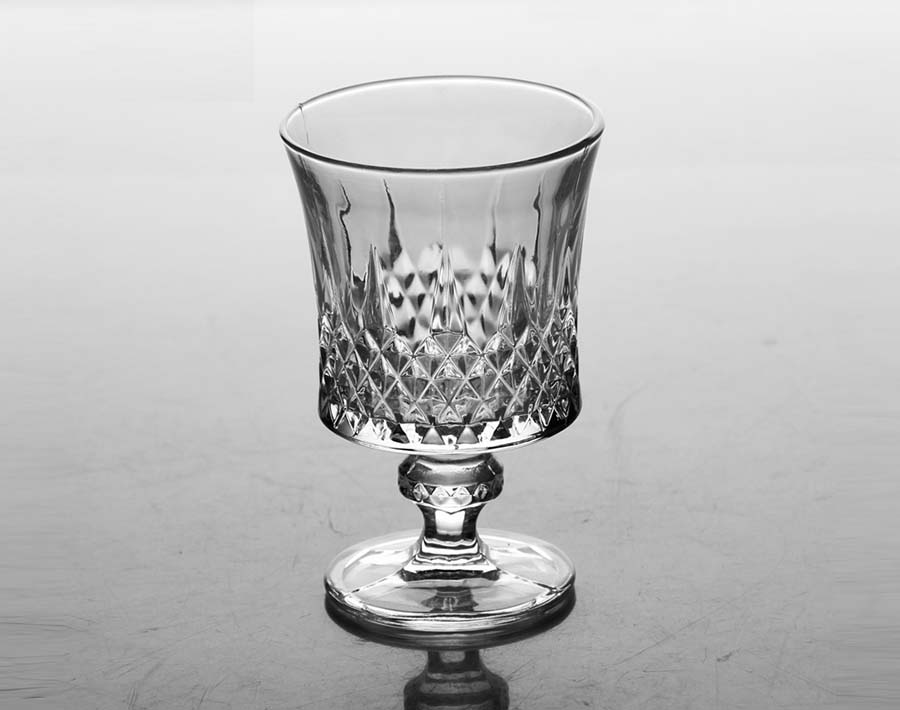 160ml Martin diamond glass goblets for juice wine drinking