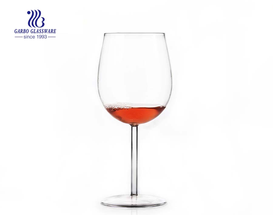 Lead free crystal pyrex glass red wine glass cup