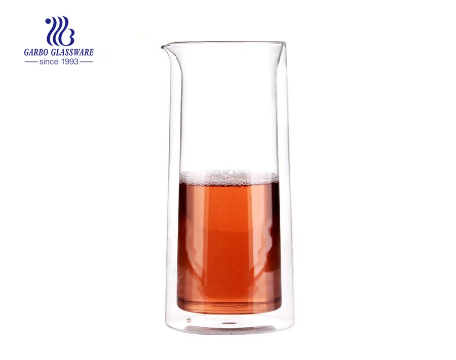 New arrival simple style logo pyrex glass carafe