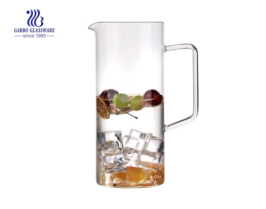 1.7L Big capacity pyrex glass water pitcher