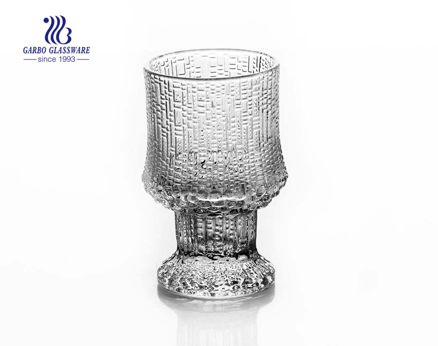 125ml Stock glass engraved goblet with basic stemware