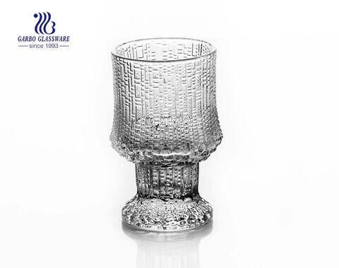 125ml Stock Glas gravierter Becher mit einfachem Stielglas