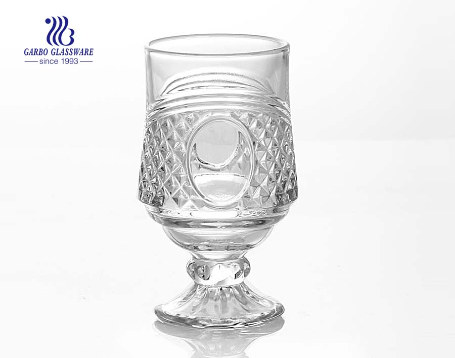 196ml glass tea wine goblet with factory price