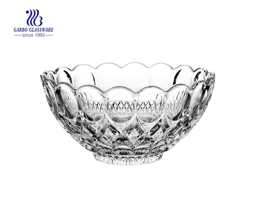 8.46'' Glass bowl with Angelica design