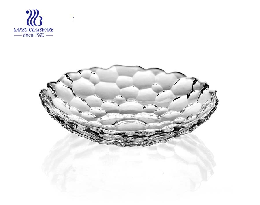 10.47'' Glass Fruit Plate for Home Usage