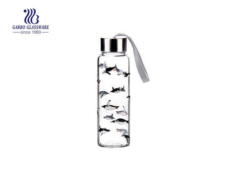 280ml Drucken Schönes Design Glas Wasserflaschen Großhandel