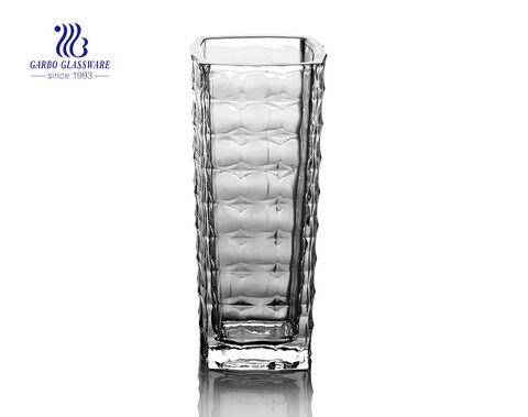 الصين كله بيع عالية الجودة إناء زجاجي مربع أبيض للزينة الجدول