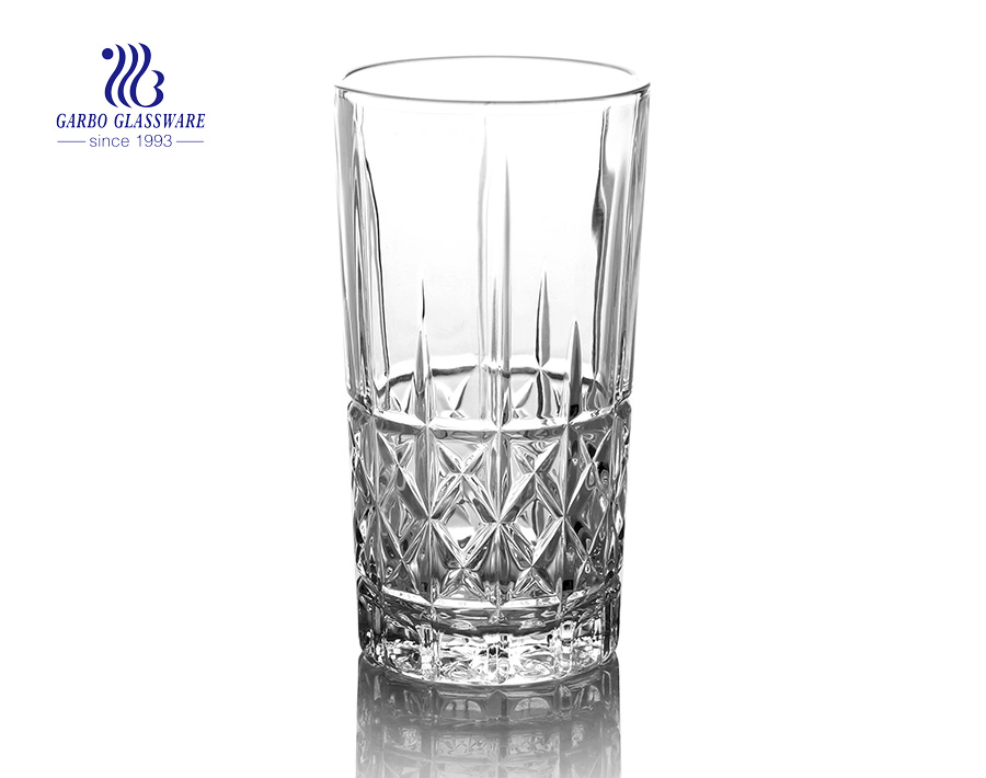 260ml hot selling juice long glass tumblers with factory price