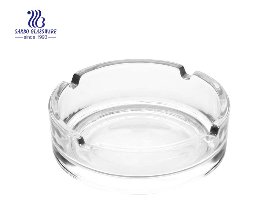 4inch round design glass car ashtray