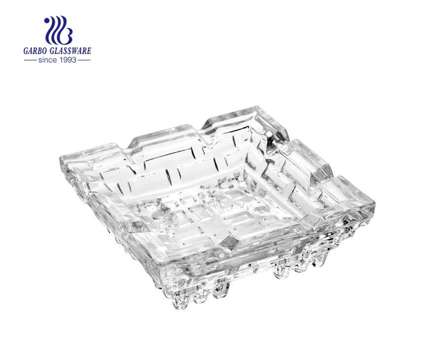 4inch round design glass car ashtray