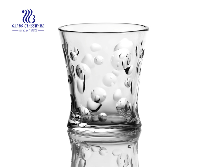 New designs glass juice tumbler with factory price