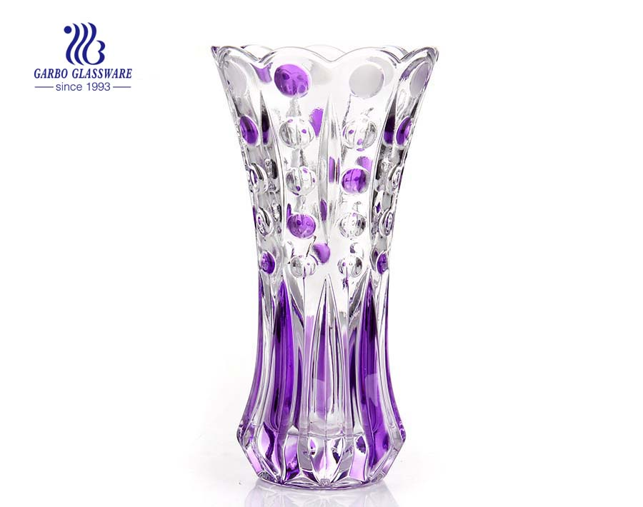 Wholesale elegant square glass vase 15cm height
