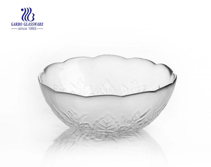 Wholesale Cheap Crystal Decorative Flower Shape Clear Glass Salad Bowl