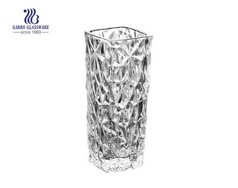 تصميم جديد فن الزجاج زهرة الكريستال زهرية للزينة الزفاف