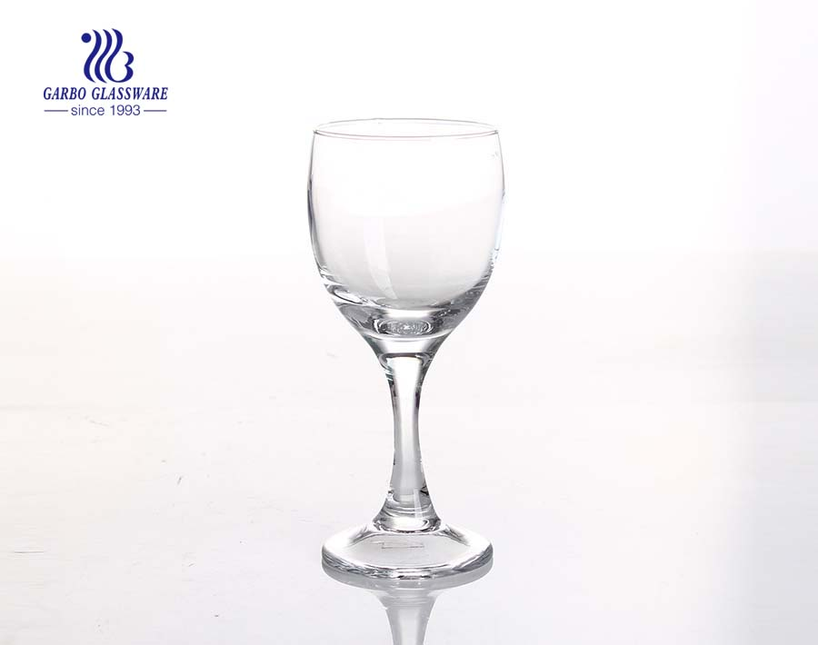 Wholesale 195ml goblet bulk crystal glass stemware