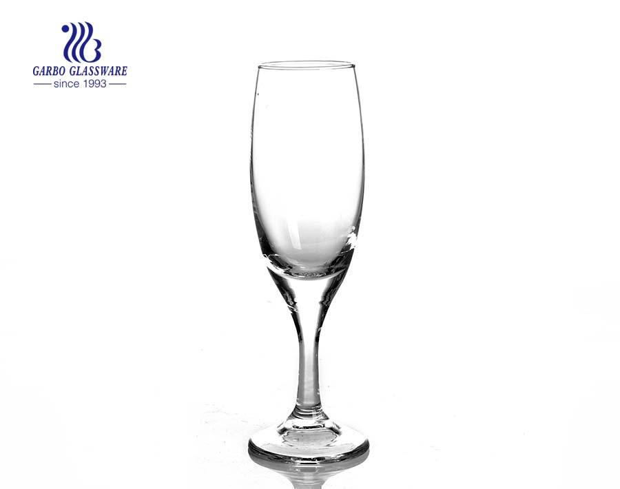 Wholesale 195ml goblet bulk crystal glass stemware