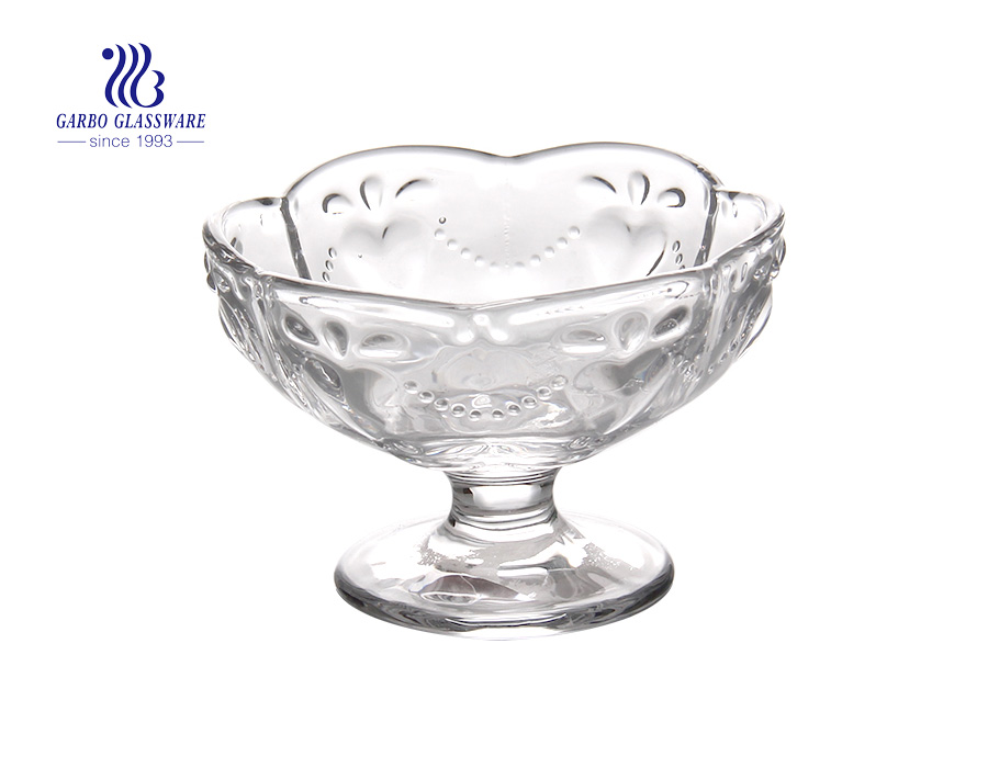 Manufacturer Hot Sale Ice Cream Dishes Glass Cup