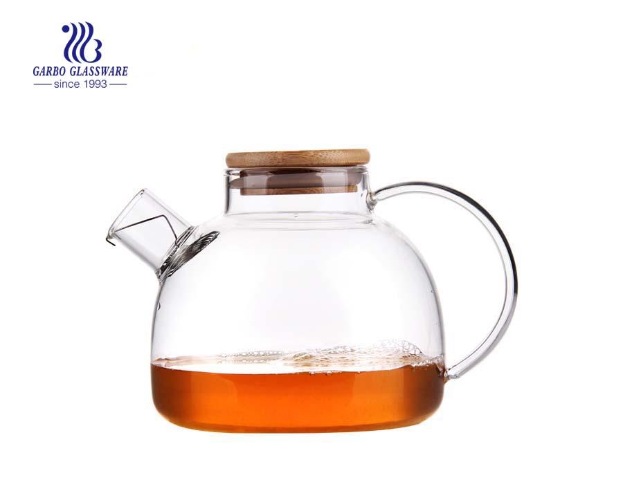 1.3 l Pyrex-Glasteekanne mit Aufguss für den Großhandel
