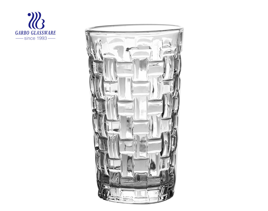 9OZ glass high ball tumbler for juice and wine drinking