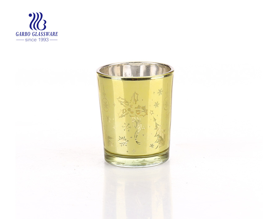 Glass Material and Yes Handmade Golden Trimmed Glass Candle Holders