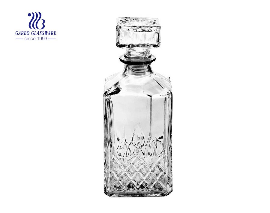 Glass Drinkware Type and CE/EU Certification crystal whisky decanter for home and restaurant use