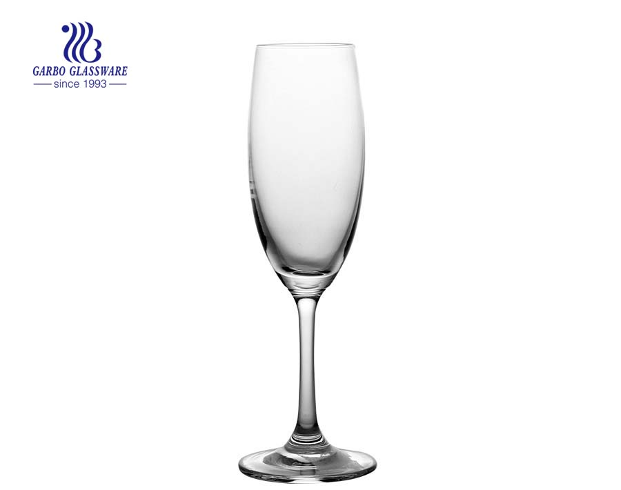 220ml clear wedding party glass champagne flutes glass