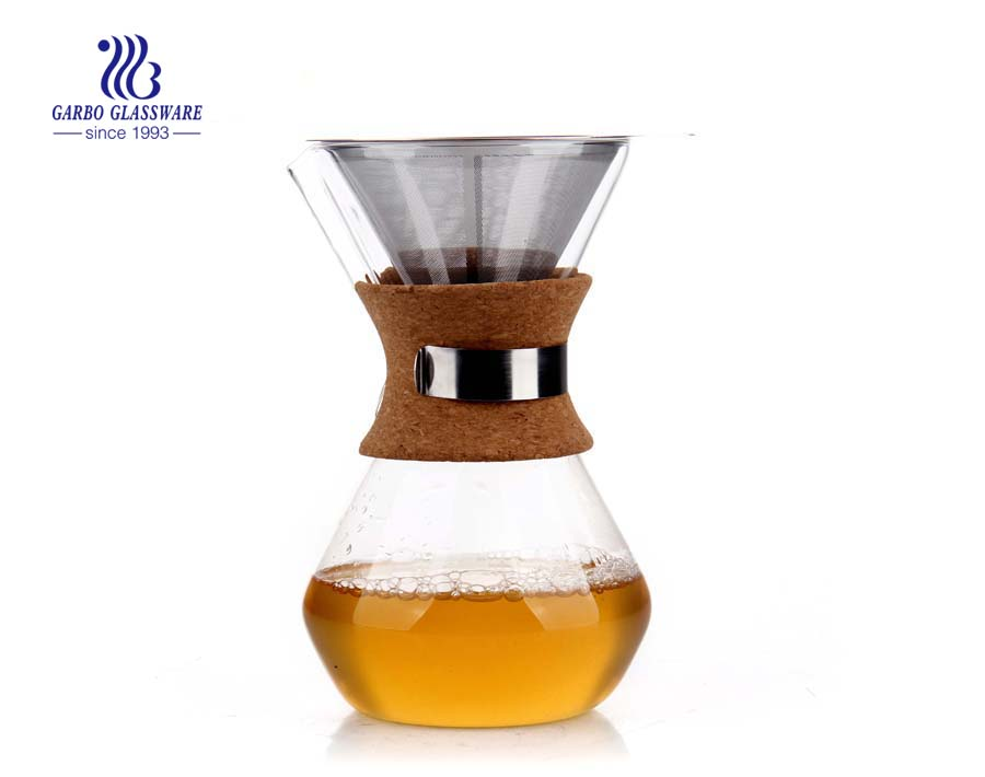 1L Big capacity french press pyrex glass coffee maker