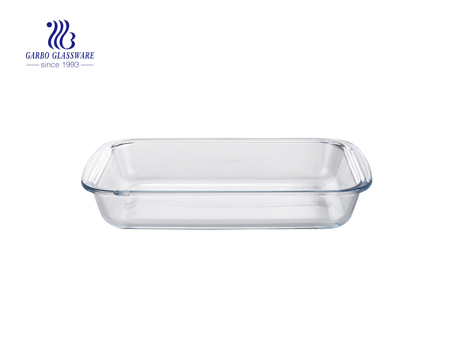 Popular Glassware 1.8L rectangle baking bowls