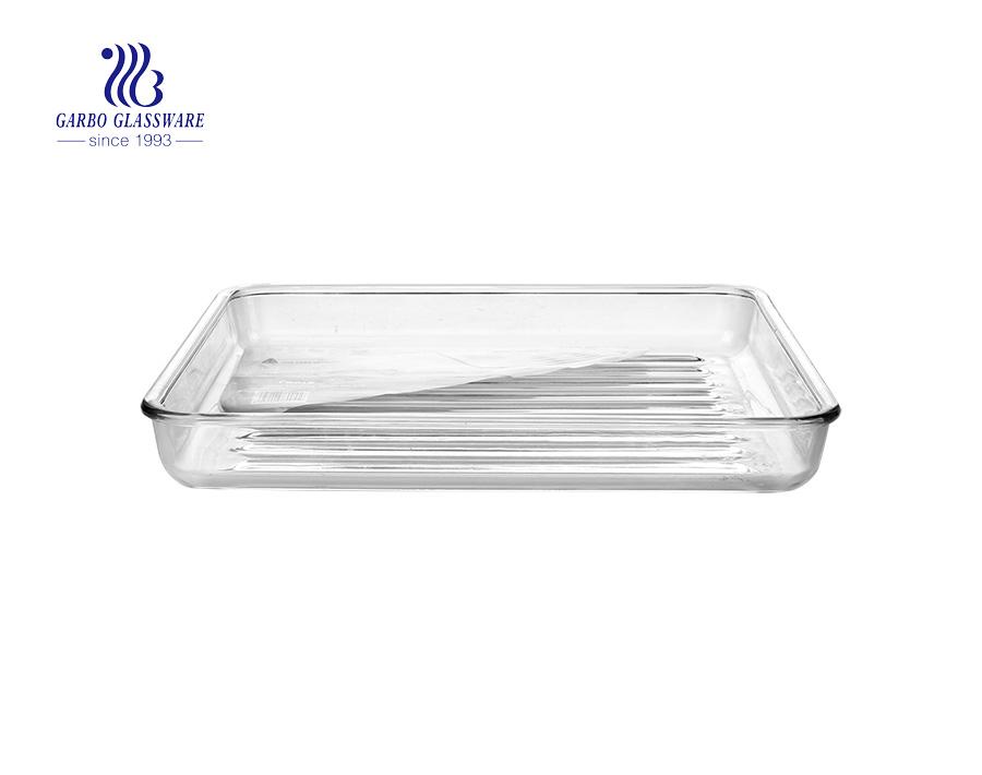 Popular Glassware 1.8L rectangle baking bowls