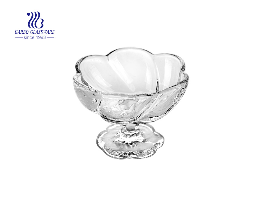 Hot Selling Unique Design Glass Ice Cream Desert Cup Supplier