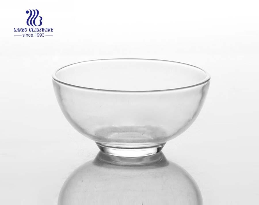 Neues Design 6 Zoll Tartan Crystal Glass Bowl für Lebensmittel enthalten