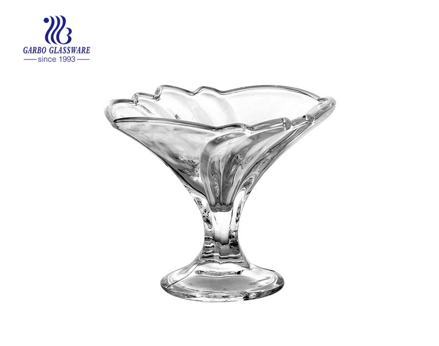Popular VTG Tulip Dessert Dishes Clear Glass Ice Cream Sundae Cup Parfait