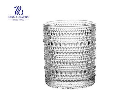Runder geformter Glaskerzenhalter für Dekorationszwecke