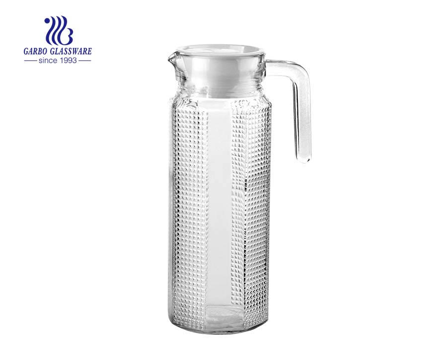 Jarras de barware de diseño clásico de vidrio transparente