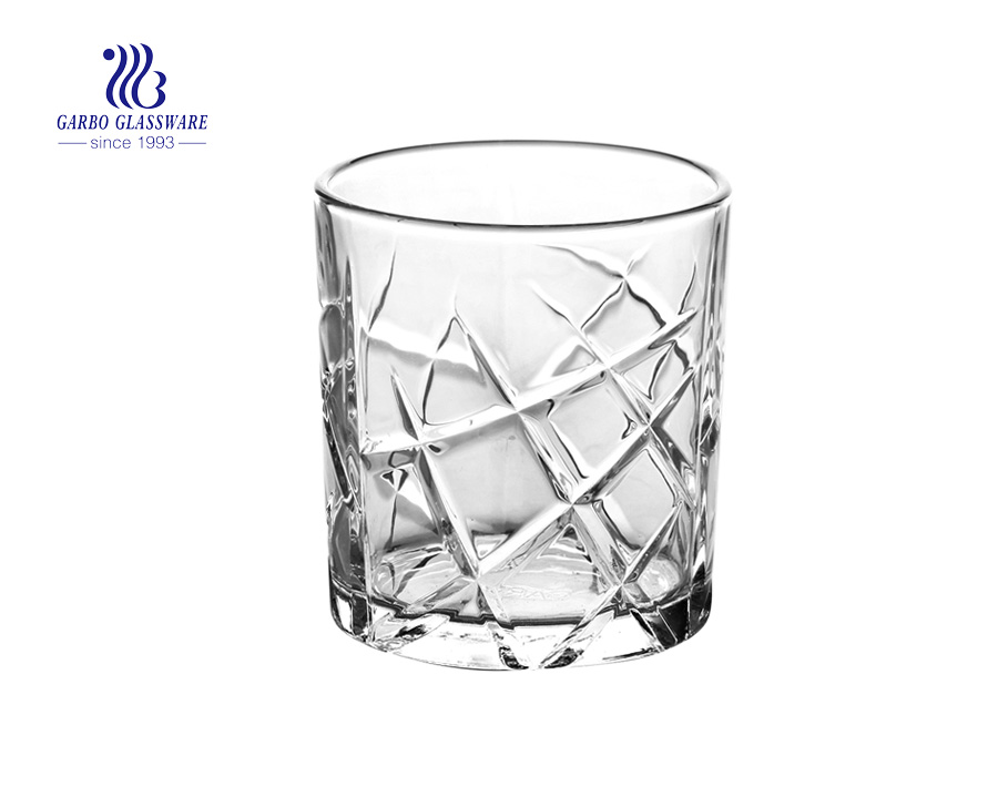 11oz glass tumblers for whisky wine drinking with factory price