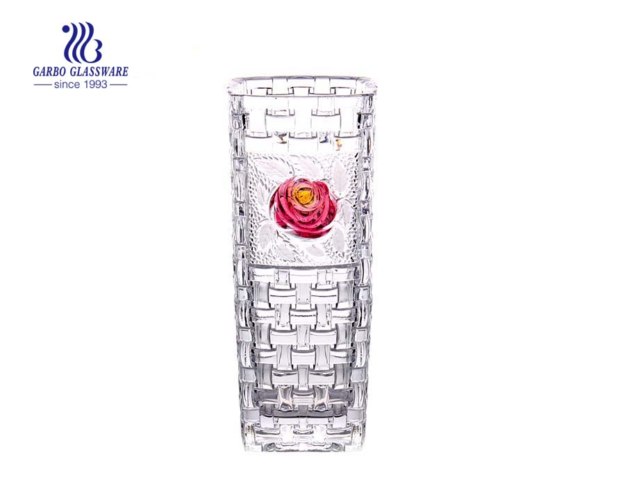 Clear Glass Flower Vase For Home And Wedding Decoration