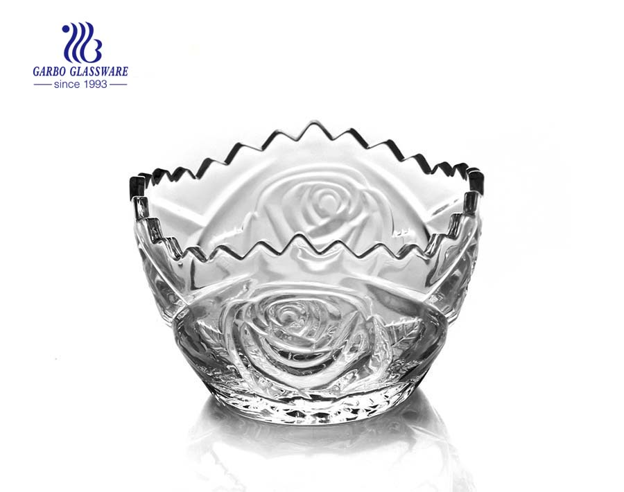 3.94'' Glass Bowl with Sunflower design