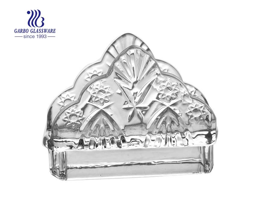 Wholesale commercial use glass napkin holders