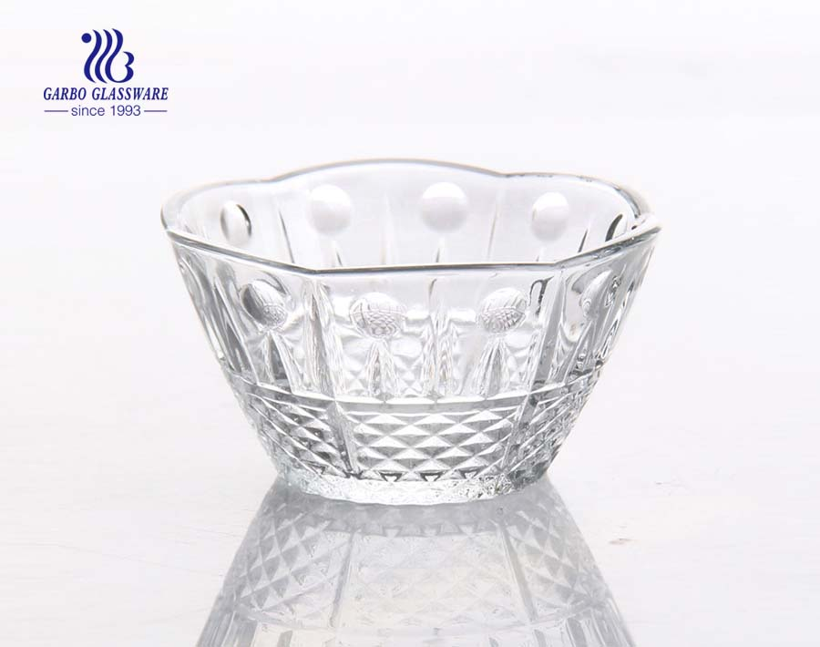 4inch small wave design glass food contain bowl