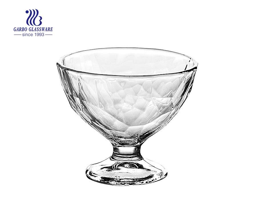 Klare Dessertschale Glas Eisbecher mit Stiel