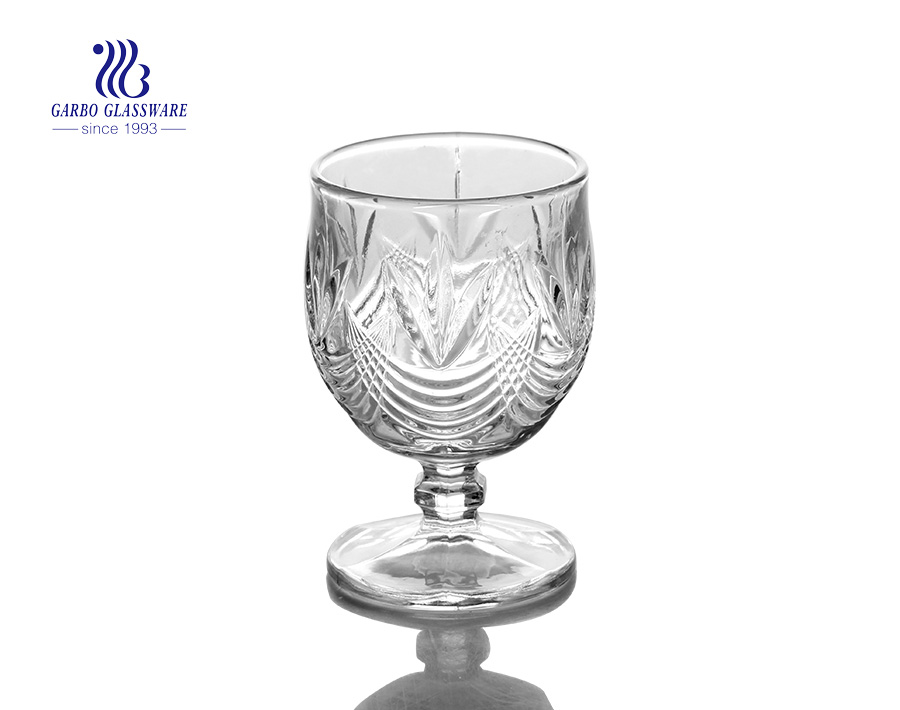 210ml high quality wine glass goblet with factory promotion price