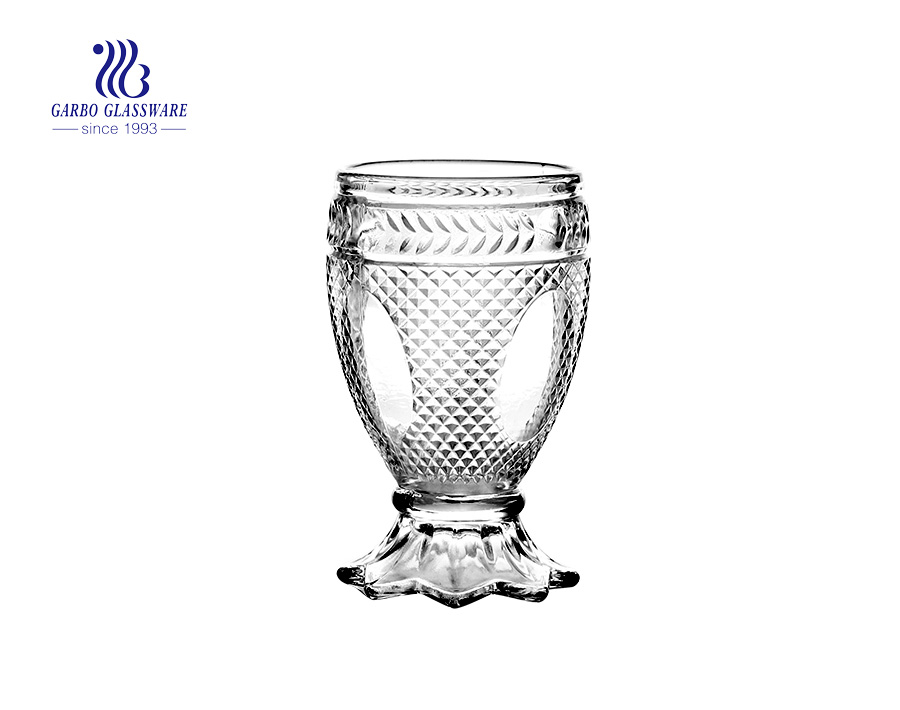 150ml whisly glass tumbler for juice drinking with factory price