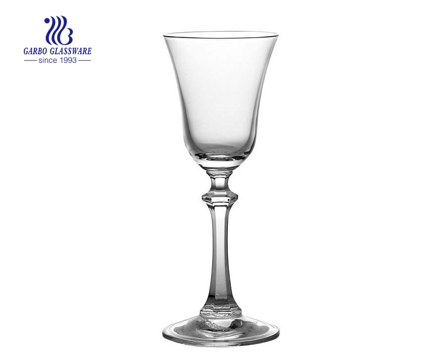 Elegant 4.4oz 125ml Lead Free Crystal Goblet Wine Glass glass cup