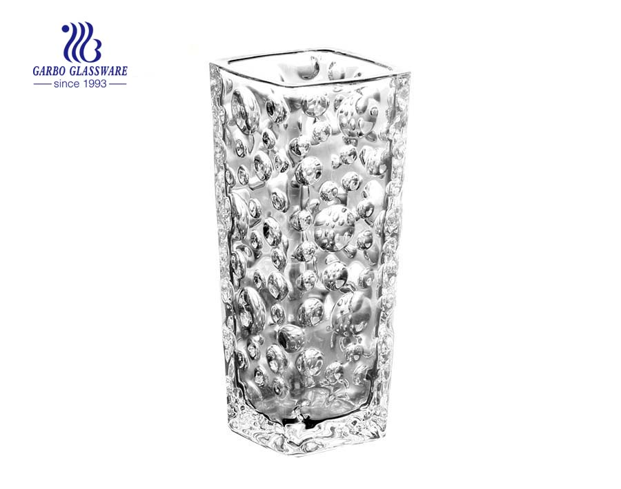 High Clear Glass Vase For Home Table Decoration With Flowers