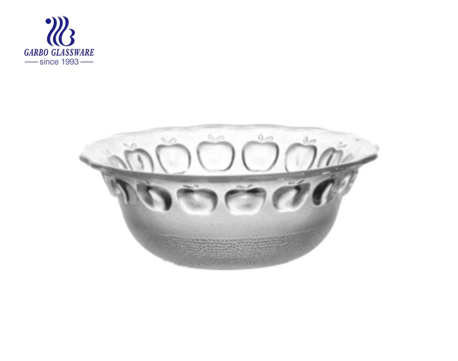Best Quality Food Grade 6 inch Clear Glass Salad Fruit Bowl
