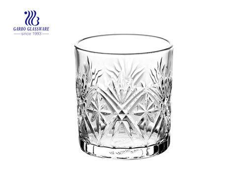 300 ml nuevos artículos vasos de vidrio de whisky de vidrio del proveedor de fabricación