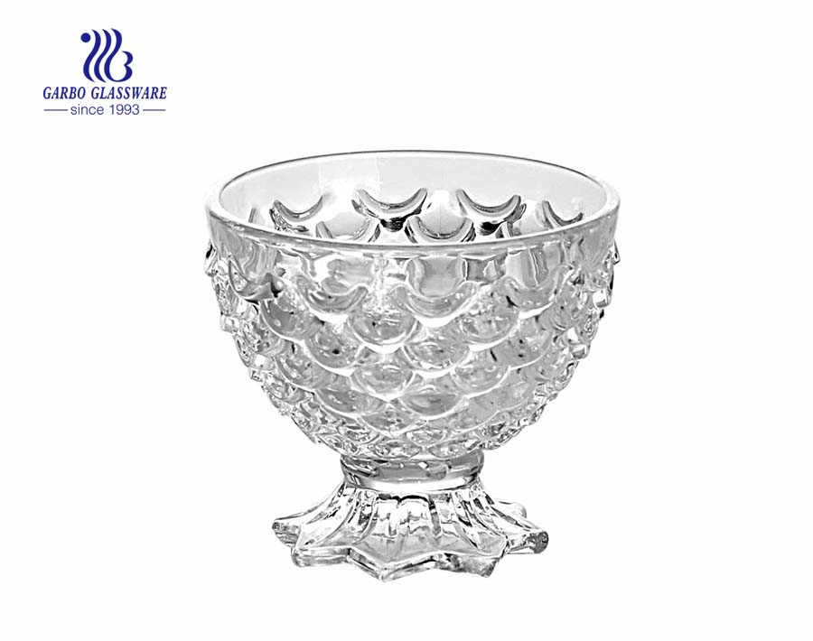 Classical style fish design glass sundae ice cream cup