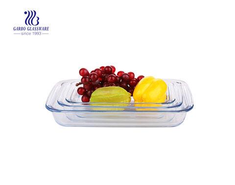 Pyrex 3PCS Rectangular Bakeware Set with silicone lid